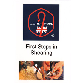 Picture of the DVD cover showing British Wool logo and close up of someone adjusting sheep shears