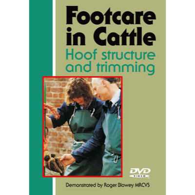 Cover picture showing Roger Blowey and a veterinary nurse examining an animal's foot