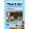 DVD cover showing Glyn Jones training two dogs on sheep